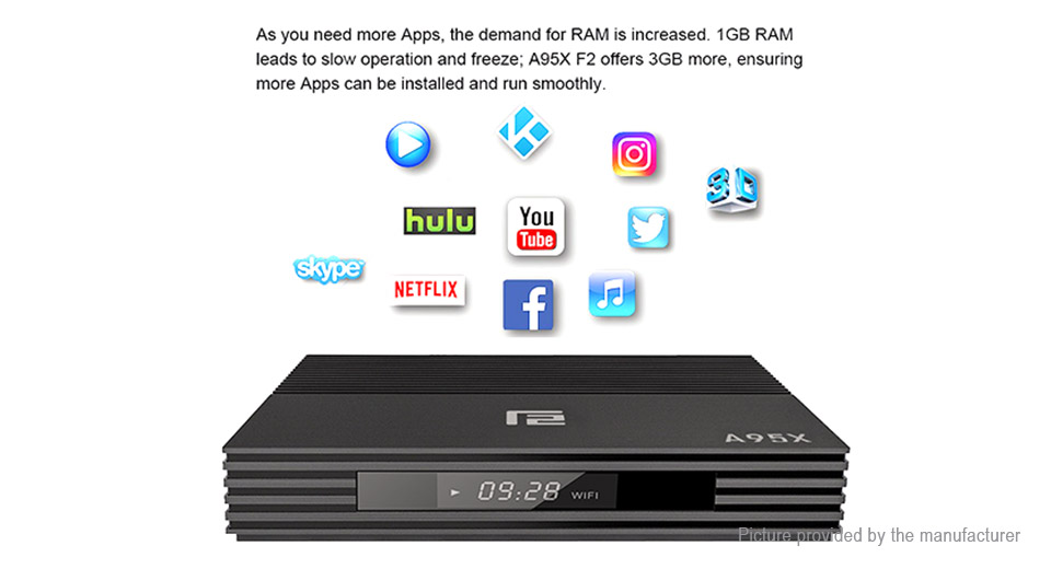 A95X F2 Quad-Core Pie TV Box (32GB/EU)