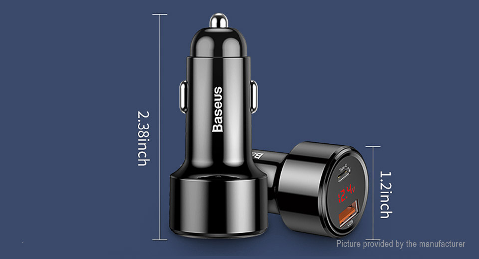 Authentic Baseus Dual USB Car Cigarette Lighter Charger Power Adapter