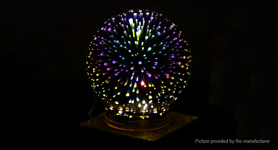 Creative 3D Plasma Ball LED Light Home Atmosphere Decoration Crystal Night Lamp