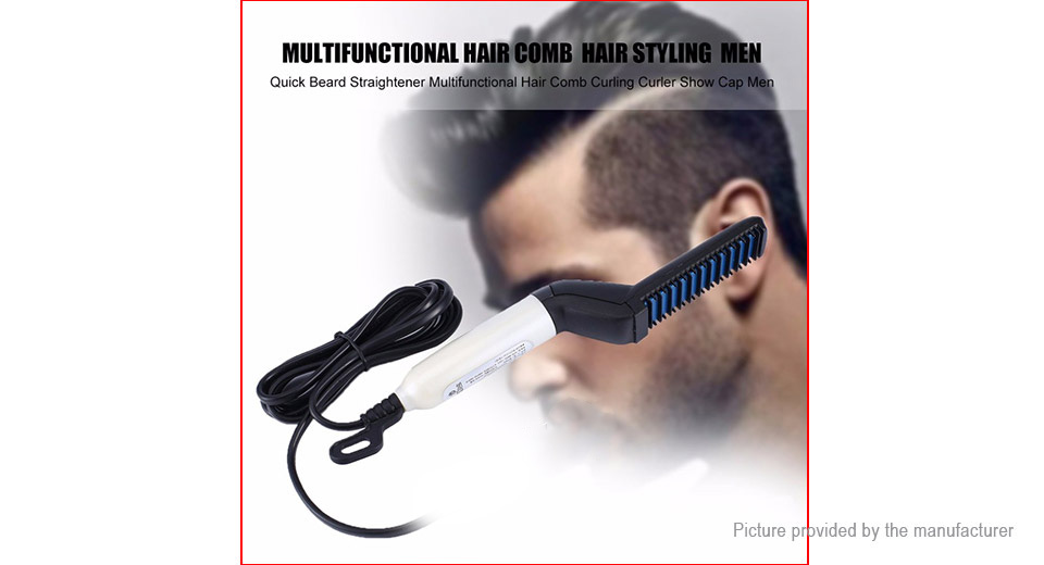 Men's Hair Styling Electric Comb Quick Beard Straightener / Curler (EU)