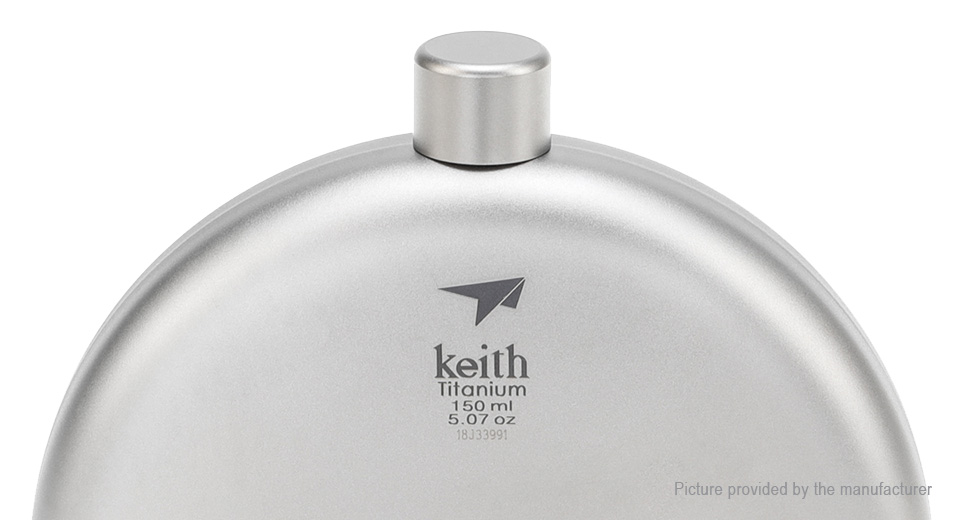 Keith Ti9302 Outdoor Portable Titanium Hip Flask Wine Pot Bottle