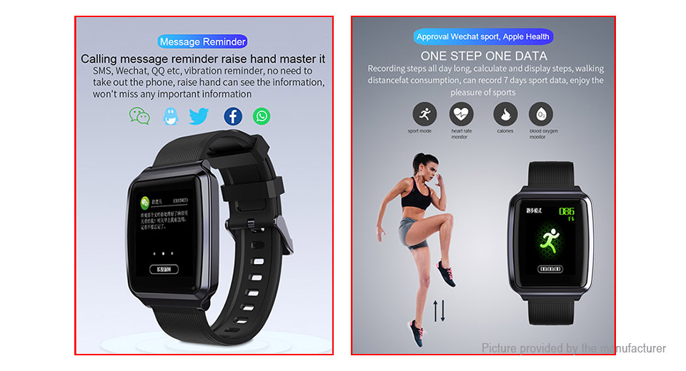 "KY116 1.3"" IPS Touch Screen Bluetooth V4.0 Sports Smart Watch"