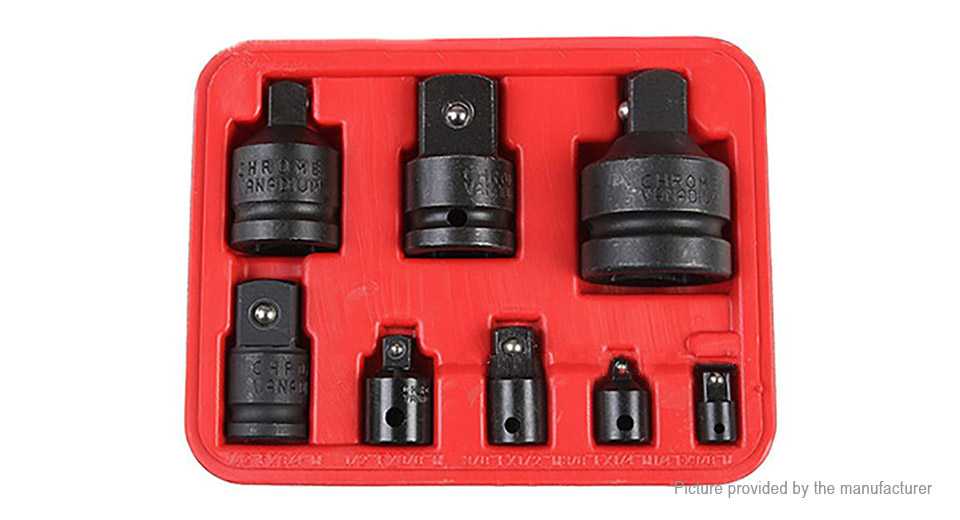 Drive Socket Converter Adapters Ratchet Wrench Adapter Tools Kit (8 Pieces)