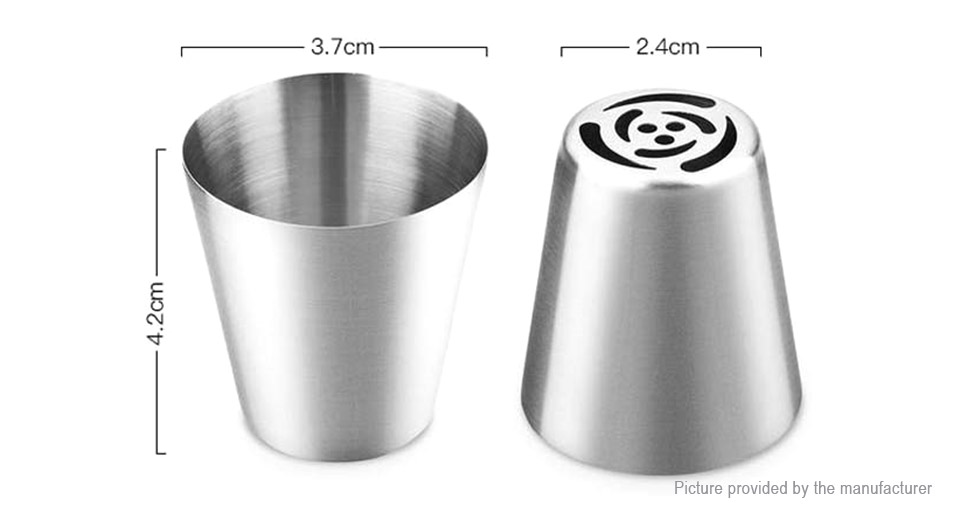 Stainless Steel Russian Icing Piping Nozzles Cake Decorating Pastry Flower Cream Nozzles