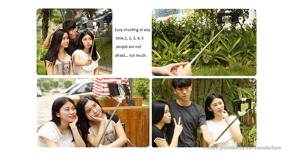 Handheld Telescopic Monopod Selfie Stick w/ Mirror for iPhone