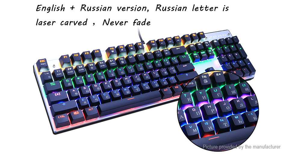 ME TOO ZERO USB Wired Mechanical Gaming Keyboard