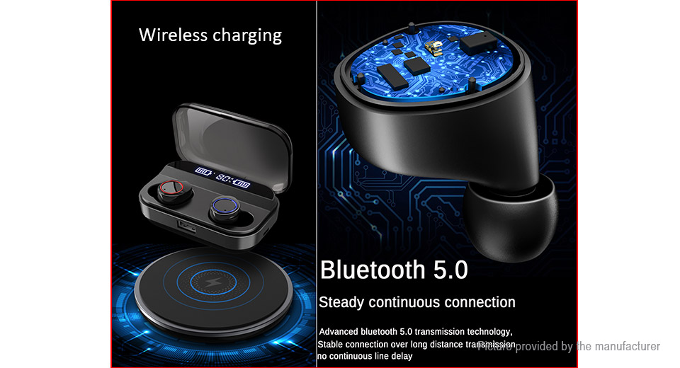 X11 Bluetooth V5.0 TWS Sports HiFi Stereo Music Earbuds Headset