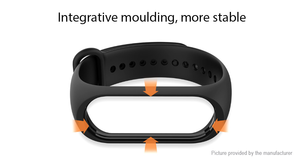 Authentic Xiaomi Replacement TPE Wristband Strap for Xiaomi Mi Band 3 / Band 4