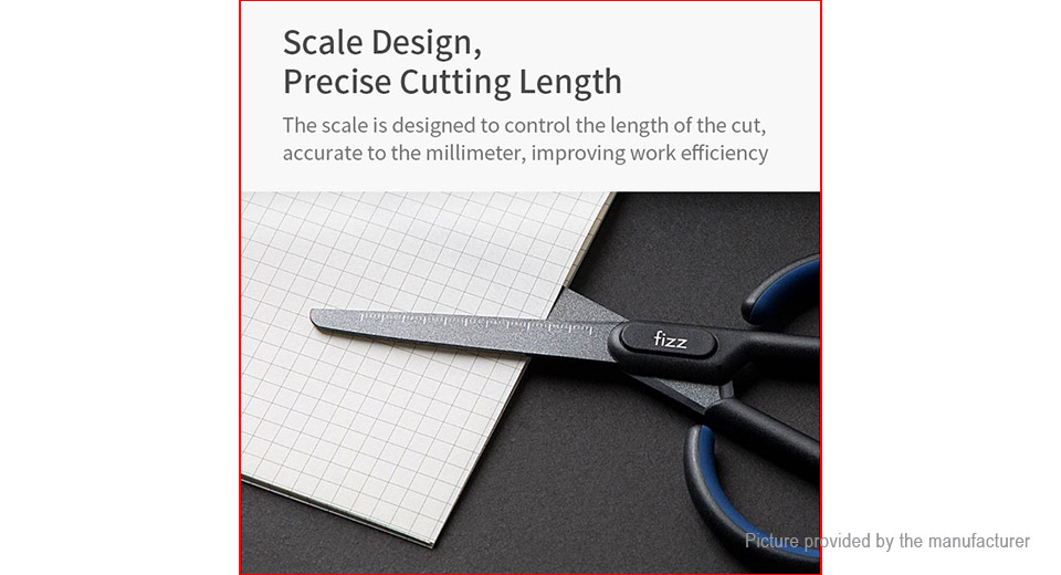 Authentic Xiaomi Youpin Fizz Scissors w/ Scale Home Office Stationary Scissors