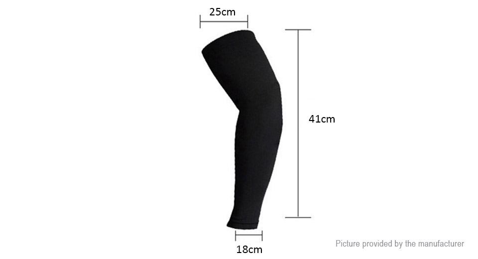 Unisex Outdoor Sports Cycling UV Protection Arm Cooling Sleeves (Size L/Pair)