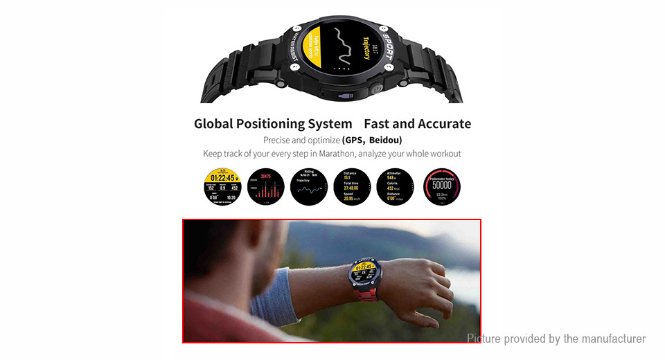 "DT NO.1 G9 1.3"" TFT Touch Screen Bluetooth V4.0 Sports Smart Watch"