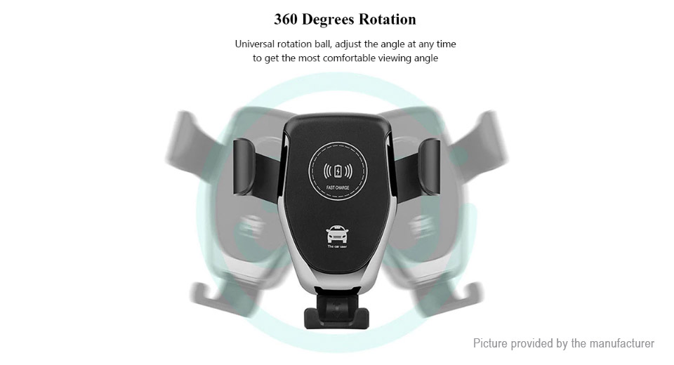 Q12 Qi Inductive Wireless Charger Car Air Vent Mount Cell Phone Holder