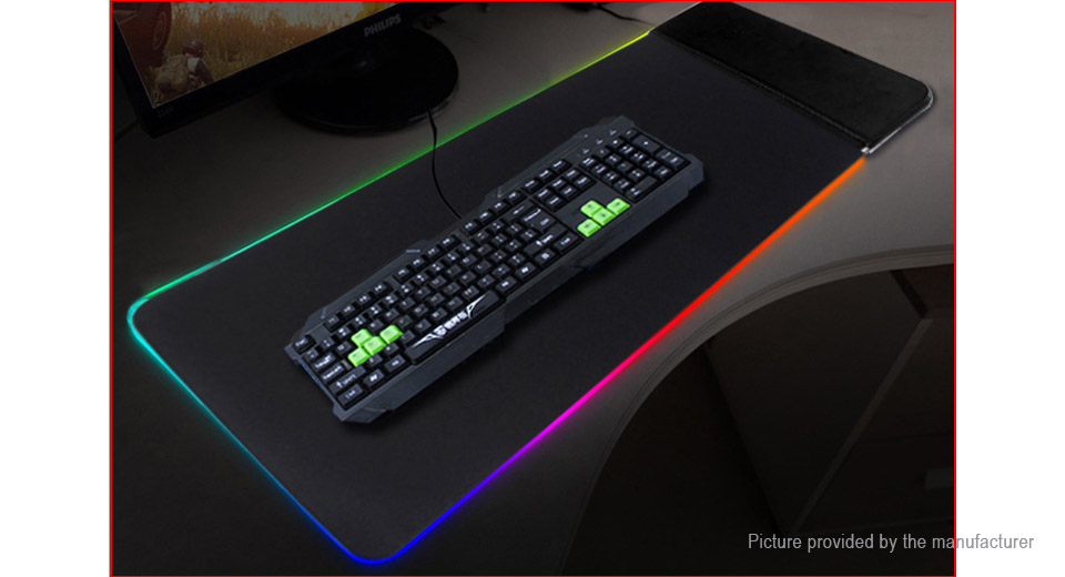 S15 10W Wireless Charger Charging RGB LED Game Keyboard Mouse Pad Mat