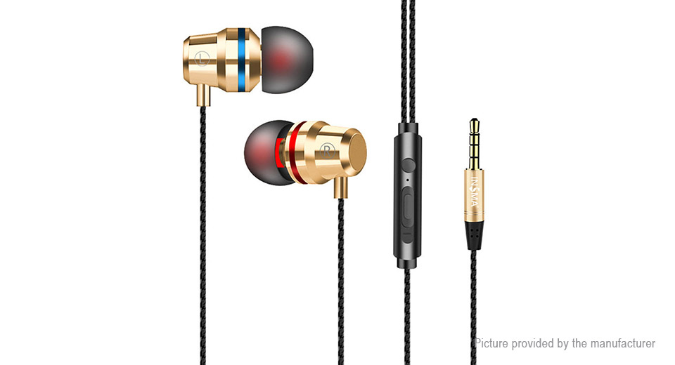 HUASIDUN G86 3 5mm Wired Sports HiFi Heavy Bass In-ear Earphones