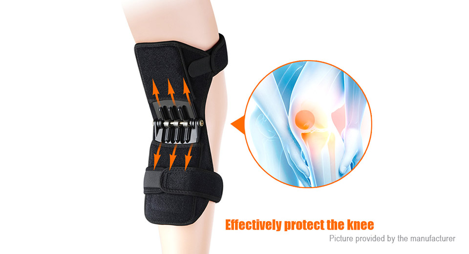 NASUS Knee Support Power Lift Spring Joint Brace Pad Fitness Sports Protector (Pair)