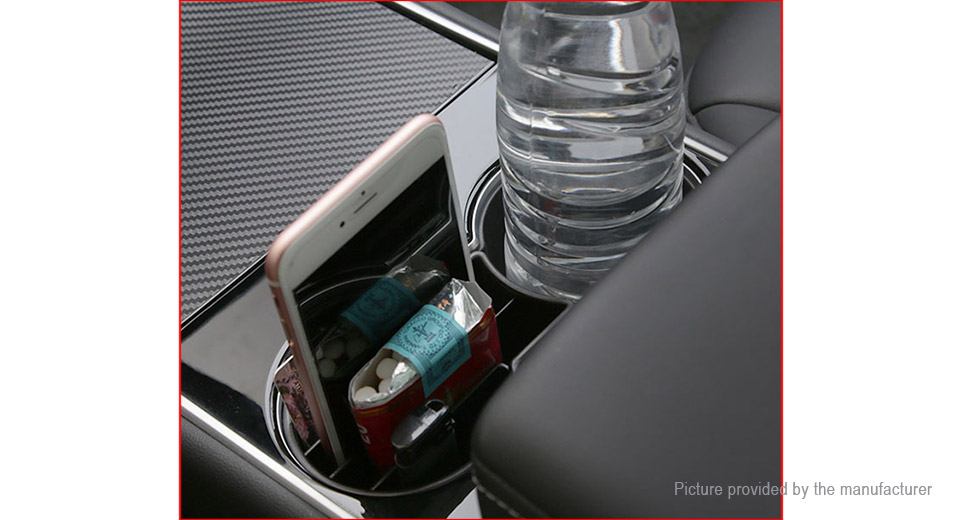 Car Cup Holder Insert Organizer Key Card Holder for Tesla Model 3