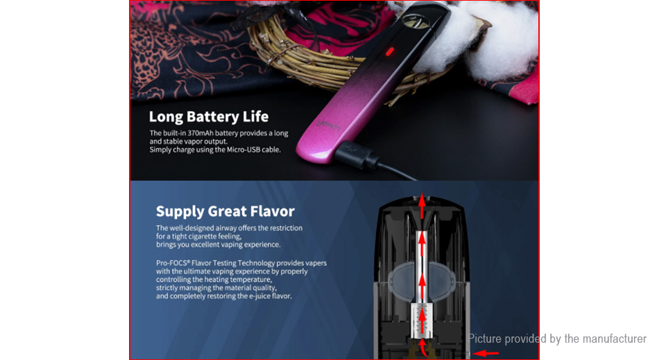 Authentic Uwell Yearn 11W 370mAh Pod System (Body Only)