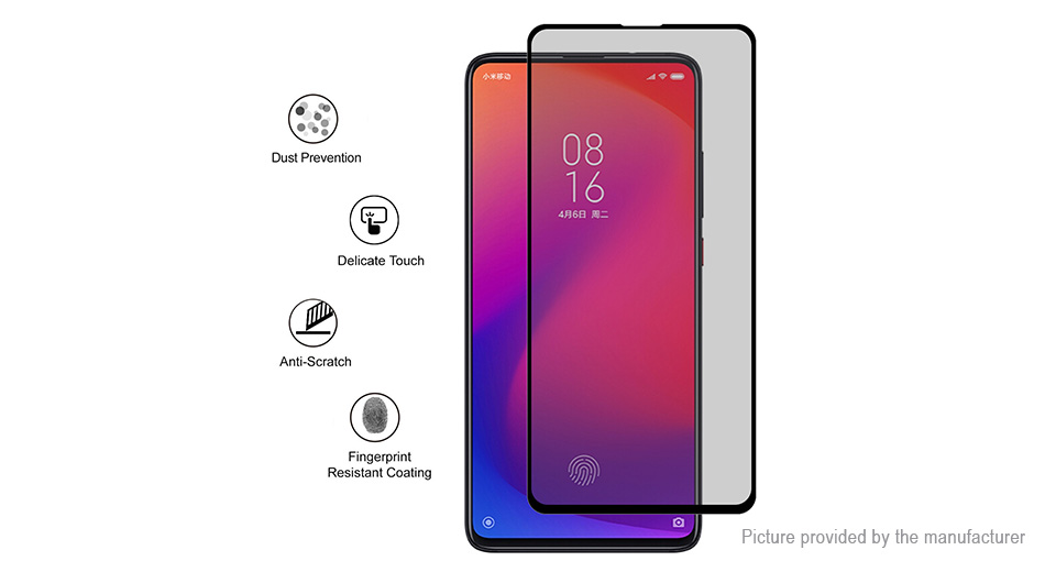 Hat.Prince 2.5D Tempered Glass Privacy Screen Protector for Xiaomi Redmi K20/K20 Pro