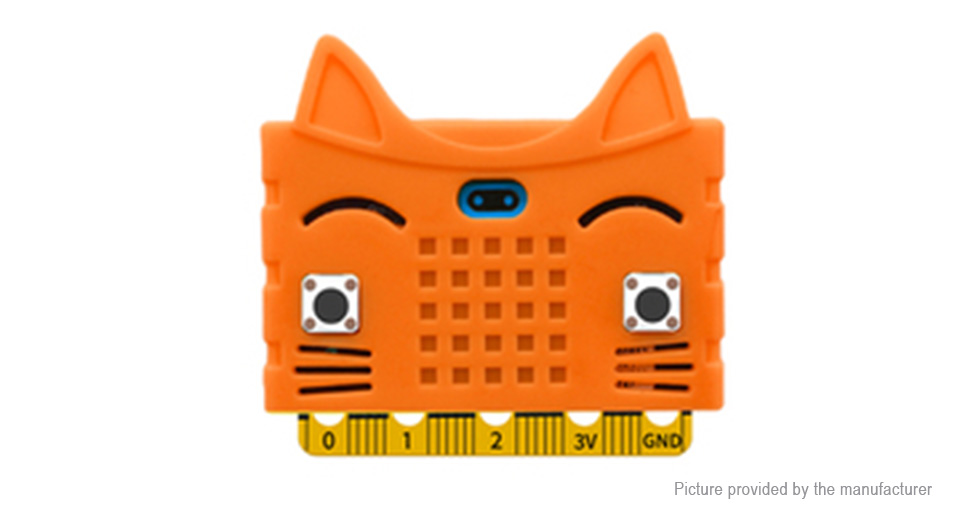 Cartoon Cat Styled Silicone Protective Case for BBC Micro:Bit