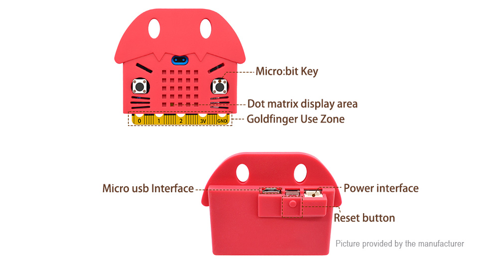 Cartoon Seal Styled Silicone Protective Case for BBC Micro:Bit