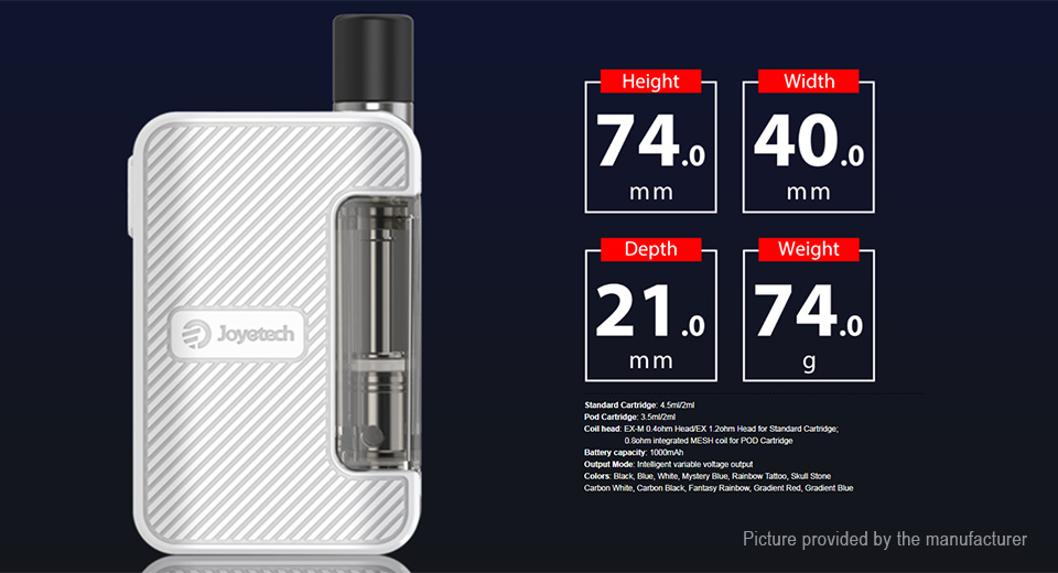 Authentic Joyetech Exceed Grip 1000mAh Pod System Starter Kit