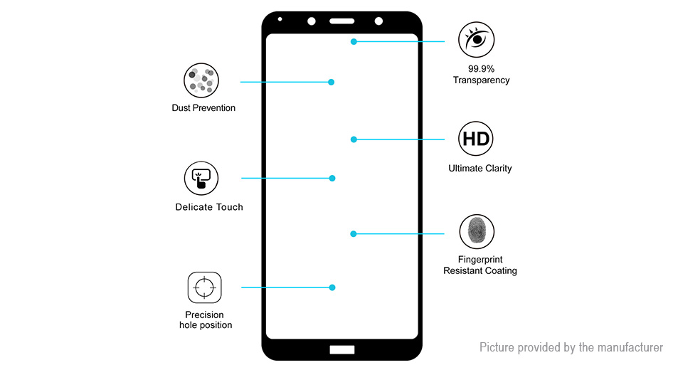 Hat.Prince 2.5D Tempered Glass Full Screen Protector for Xiaomi Redmi 7A