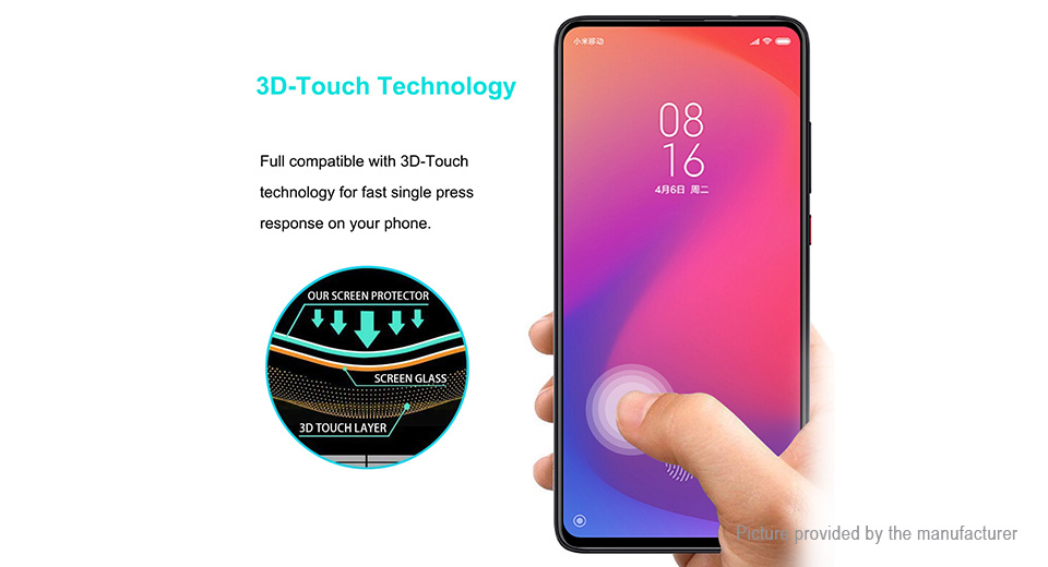 Hat.Prince Curved Tempered Glass Screen Protector for Xiaomi Redmi K20/K20 Pro
