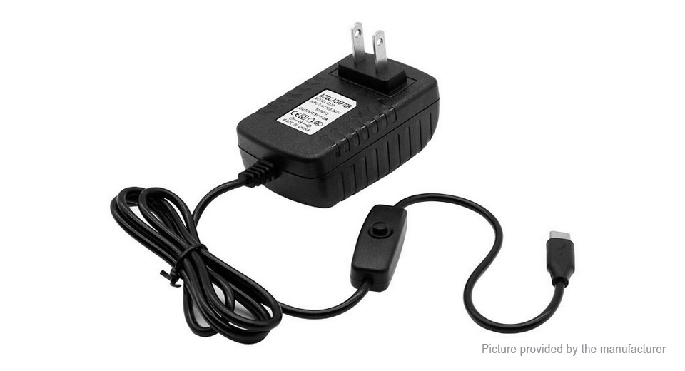 USB-C Charger AC Power Adapter for Raspberry Pi 4 Model B