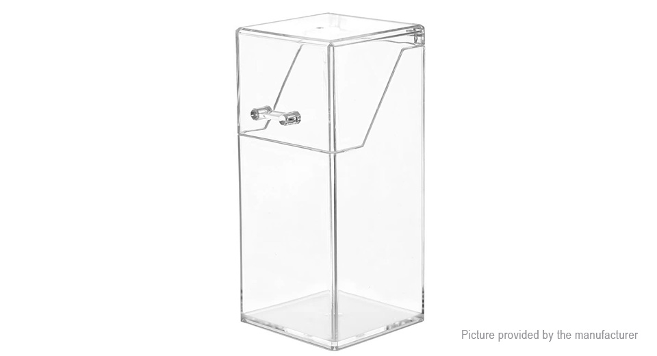Dustproof Clear Acrylic Makeup Brush Organizer Cosmetic Storage Holder w/ Lid
