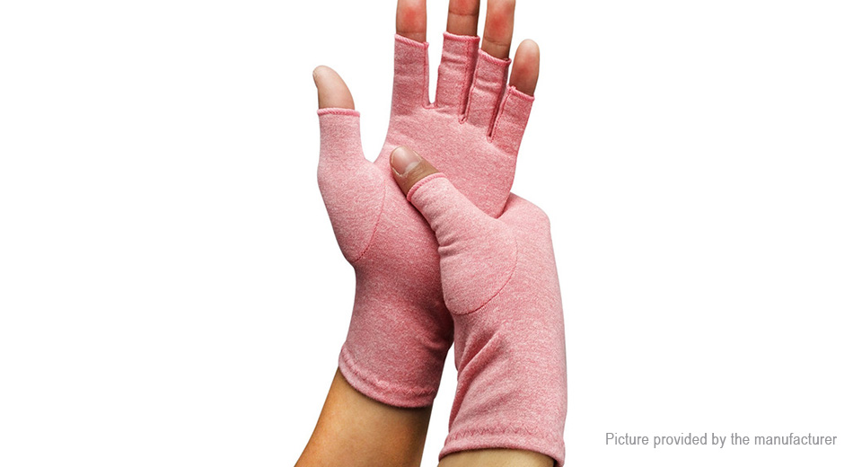 Unisex Fingerless Breathable Compression Arthritis Gloves (Size S/Pair)
