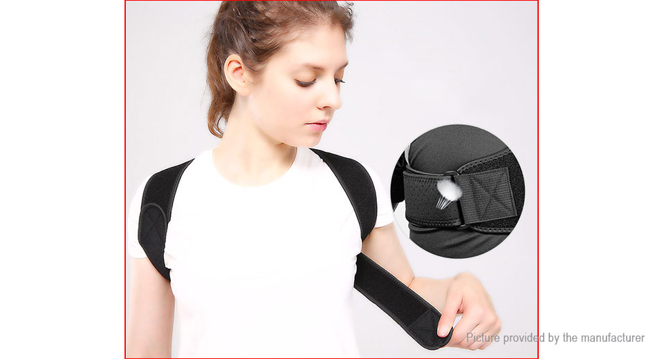 AOLIKES Ajustable Unisex Posture Corrector Upper Back Support Brace Belt