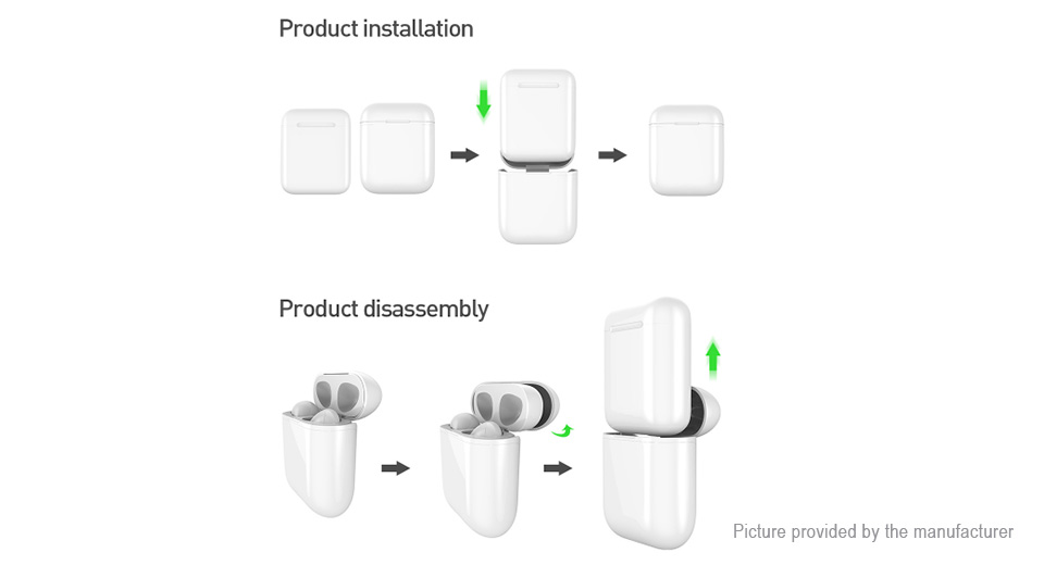 Portable Qi Wireless Charging Case Earphones Storage Case for Apple AirPods
