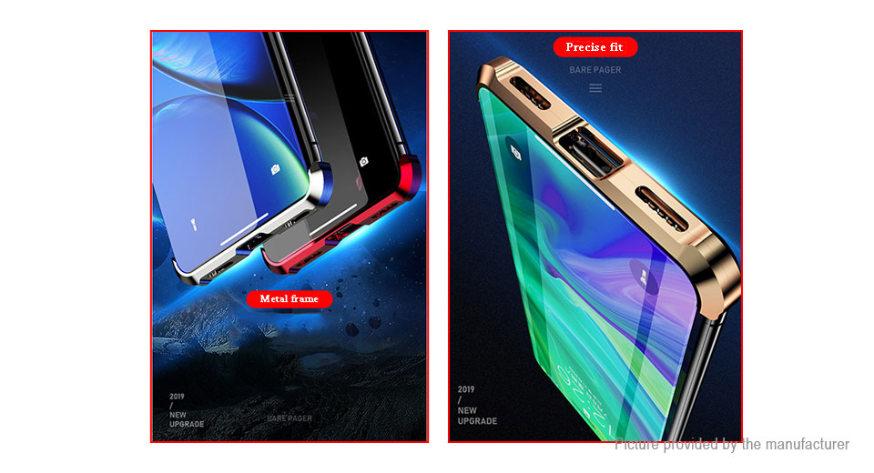 Magnetic Front & Back Tempered Glass Protective Case for iPhone X/XS