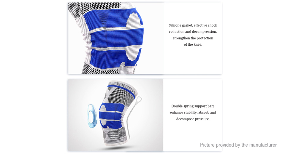 Kyncilor Outdoor Sports Fitness Knee Pad Support Brace Protective Gear (Size XL)