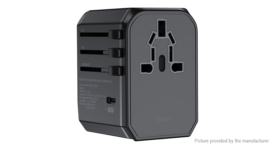 Product Image: authentic-benks-pa36-usb-usb-c-wall-charger-power