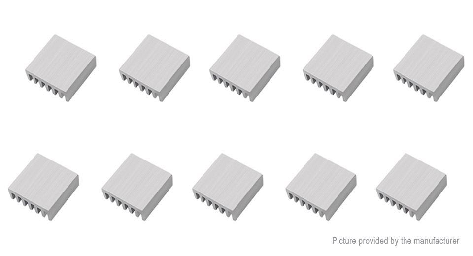 13*13*3mm Aluminum Heatsink (20-Pack)