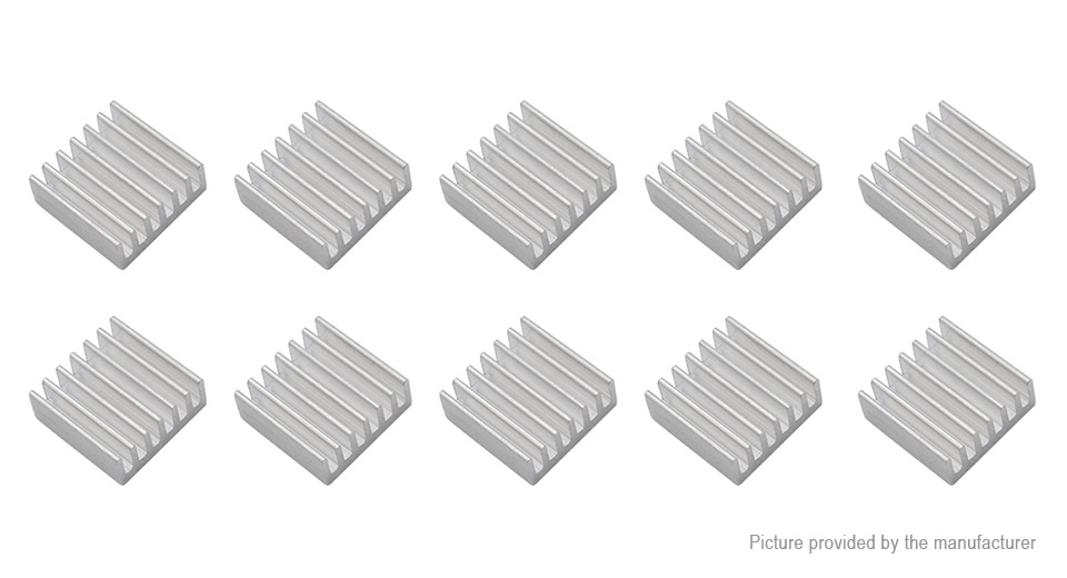 Product Image: 13-13-3mm-aluminum-heatsink-20-pack