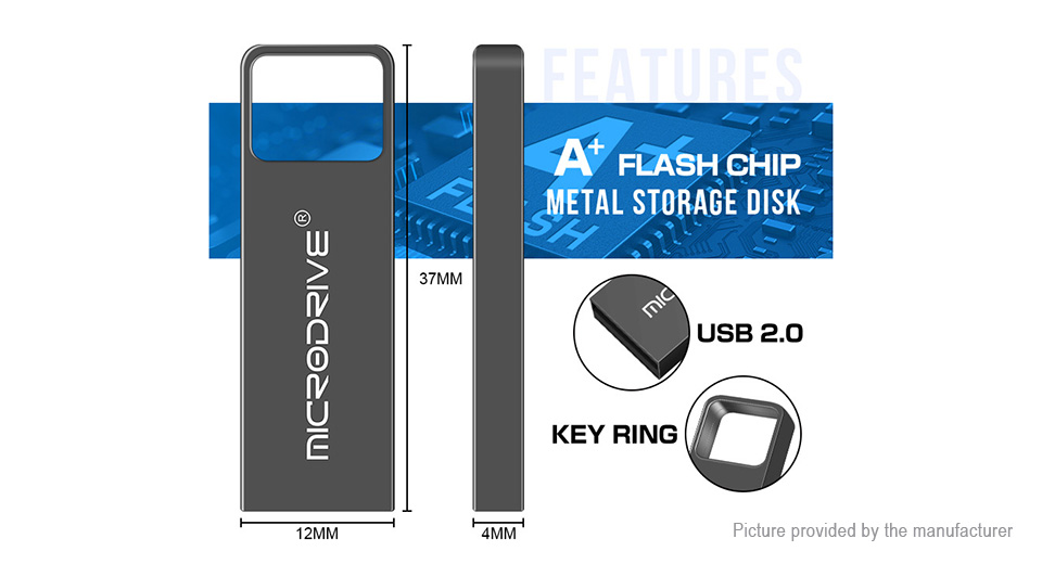 MicroDrive Portable USB 2.0 Flash Drive (16GB)