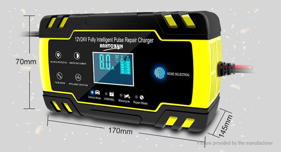 ANHTCzyx 12V/24V Fully Intelligent Pulse Repair Battery Charger (EU)