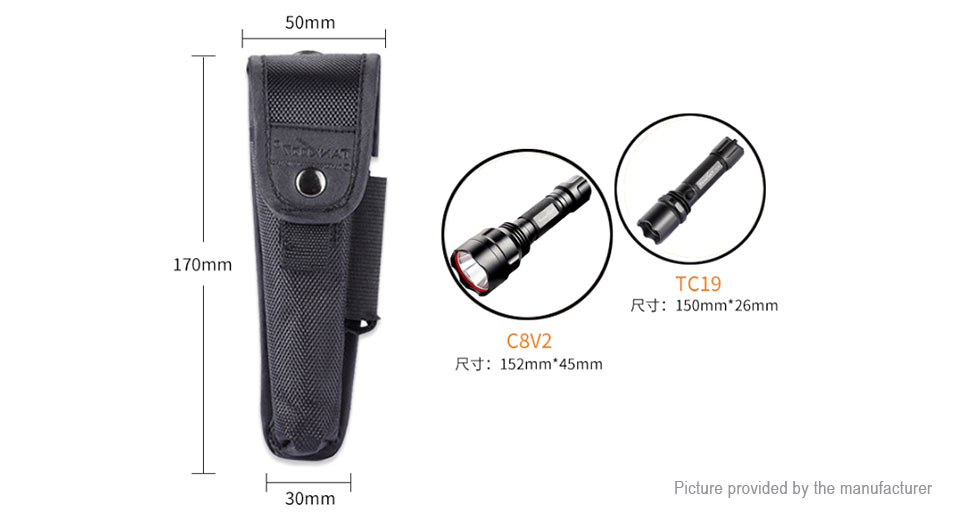 TANK007 Nylon Molle Flashlight Holster (Size L)