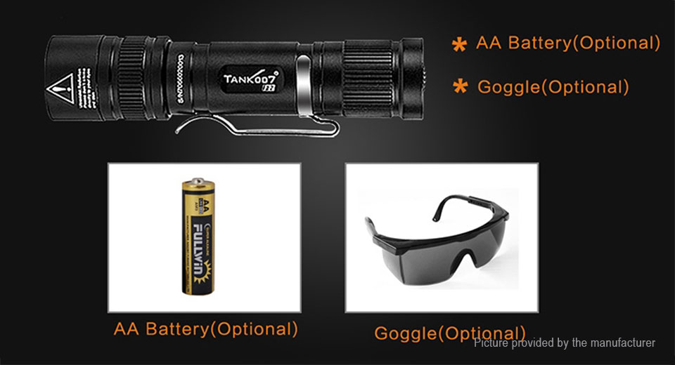 TANK007 F2 UV LED Flashlight