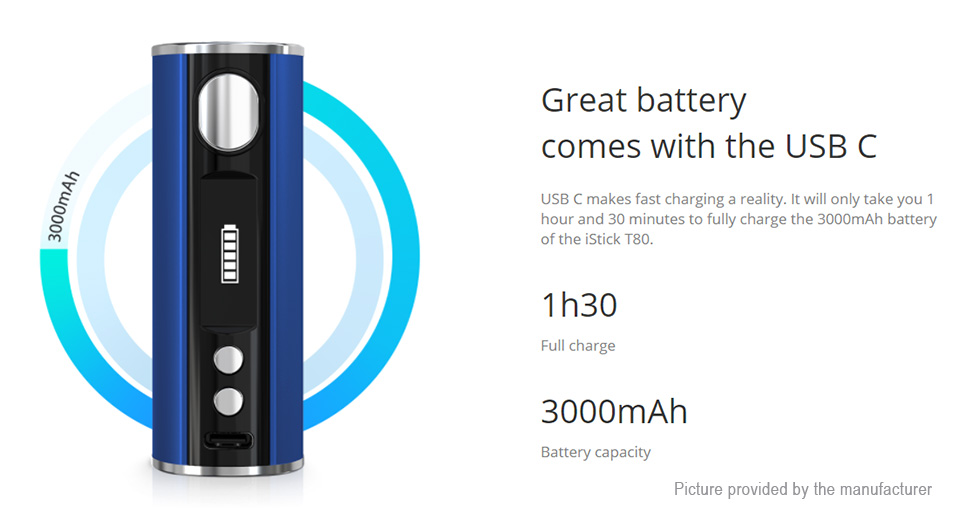 Authentic iStick T80 3000mAh VW APV Box