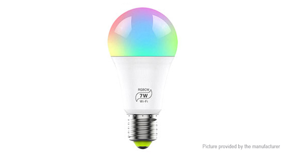 Product Image: 7w-e27-rgbw-dimmable-wifi-smart-led-light-bulb