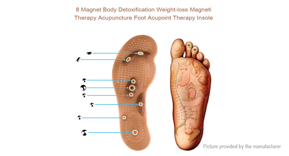 Acupressure Magnetic Massage Insole Foot Therapy Pain Relief Shoe Pad (Pair)