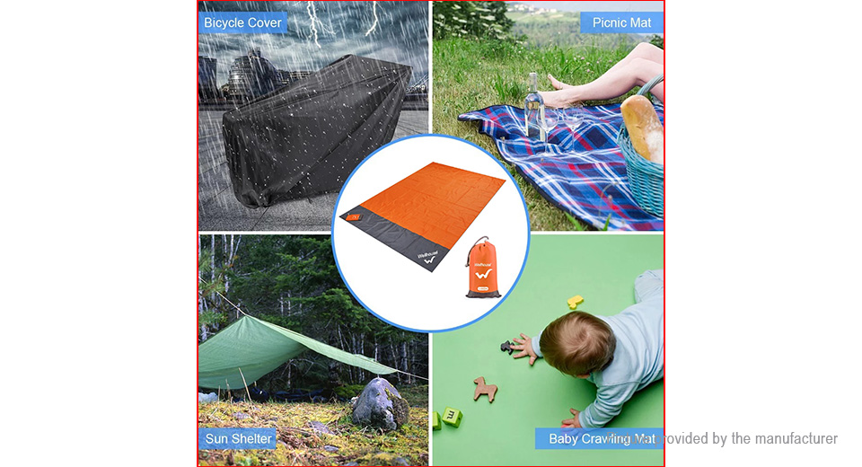 Wellhouse Outdoor Portable Multifunctional Camping Picnic Mat Mattress Beach Blanket