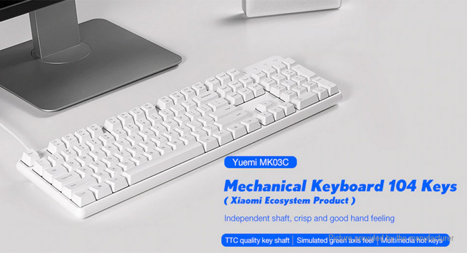 Authentic Xiaomi Yuemi MK03C TTC Hybrid Shaft USB Mechanical Keyboard