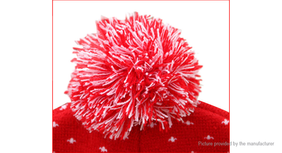 Adult Kids LED Light Up Luminous Christmas Knitted Hat Beanie Cap