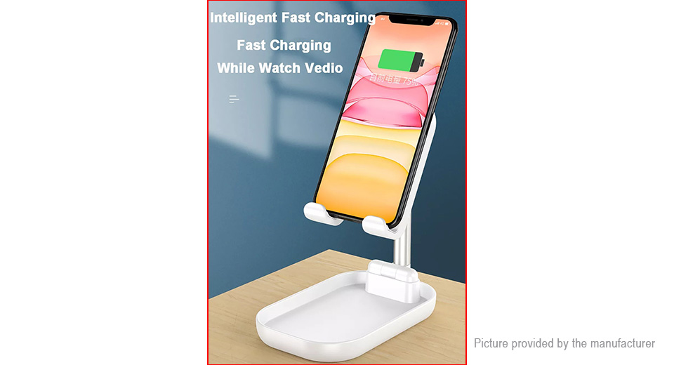 WS2 Desktop Foldable Extendable 10W Qi Wireless Charger Phone Holder Stand