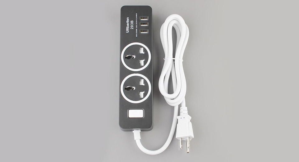 Product Image: urbantin-ac-socket-3-port-usb-charger-power
