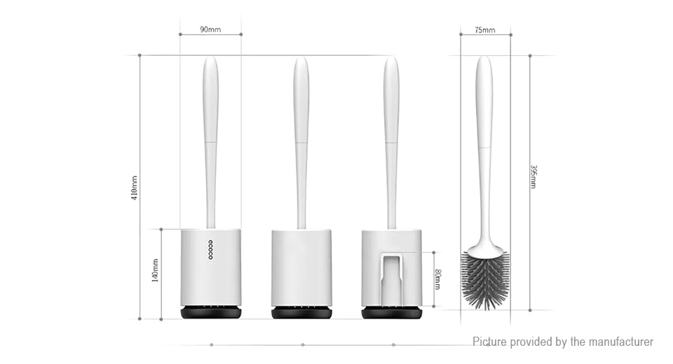Details about  /ecoco TPR Toilet Brush and Holder Upgraded Modern Design with Soft Bristle T9D6
